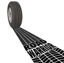 Road Warrior Tire Track Words ...