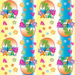 Seamless Pattern Aloha travel concept