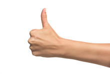 Woman Hand With Thumb Up.