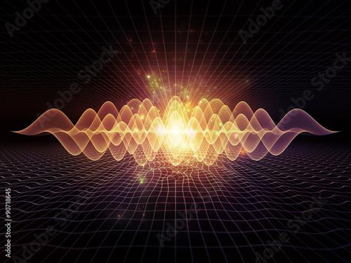 Fotobehang Fractal waves Perspectives of Light Waves