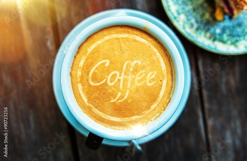 Coffee Cup Concept Canvas Print
