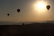 Ballons over Mointains in cappadocia