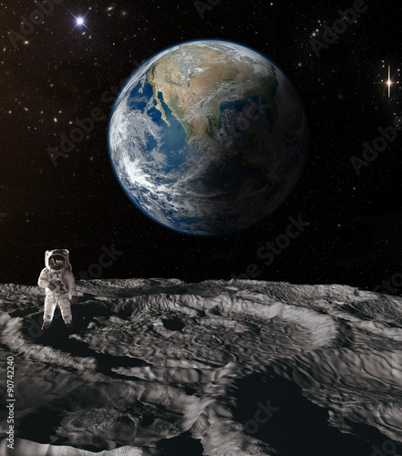 Wall Murals Nasa Astronaut on the moon.