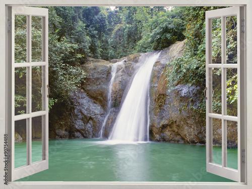 Waterfall near Iligan town, Mindanao, Philippines