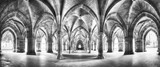 Cloister black and white panorama