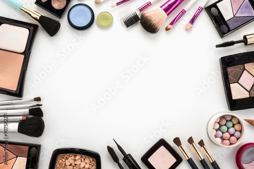 Fotografie, Obraz  Kosmetika set na bílém pozadí