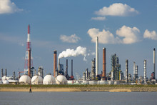 Antwerp Port Refinery And Gas Storage Tanks