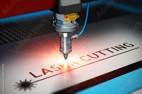 Obraz na plátně  Laser cutting technology