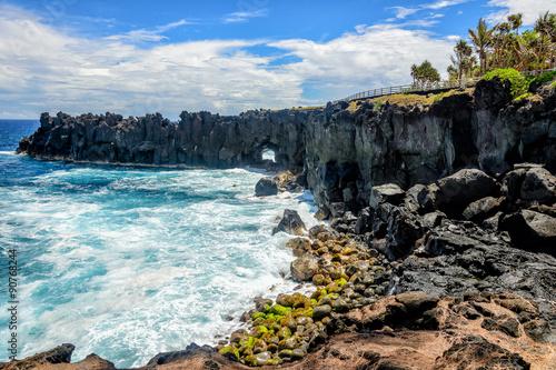 Spoed Foto op Canvas Eiland Cap méchant, a cape in la Reunion island