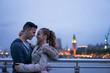 Tourist Couple taking selfie at Big Ben, London