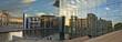 Leinwandbild Motiv Berlin Marie Elisabeth Lüders  Haus , Regierungsviertel Panoramaaufnahme mit Spiegelung