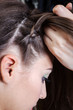 weaving braids girl