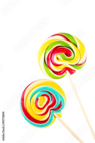 Foto op Aluminium Snoepjes Lollipops isolated on white