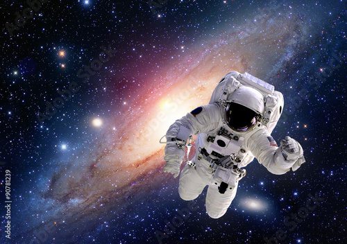 Fotografering  Astronaut spaceman suit outer space solar system people universe