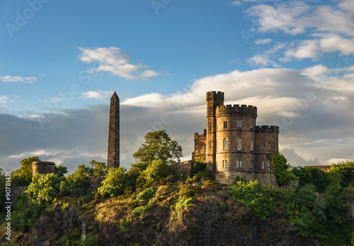 Photo sur Toile Chateau Calton Hill, Edinburgh, Scotland