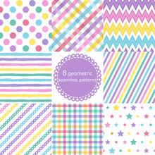 Set Of 8 Geometric Seamless Patterns