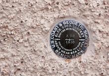Geological Survey Benchmark, Santa Fe Railroad Depot