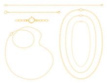 Gold Chains, Necklaces, Bracel...
