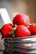 Closeup of fresh farm raised strawberries