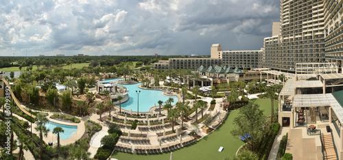 Fotografie, Obraz  Tropical resort and pool