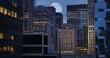 4K Full Moon Over Manhattan Skyline