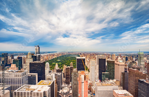 New York City and Central Park Wallpaper Mural