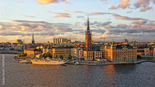 Photo  Blick auf Riddarholmen in Stockholm.