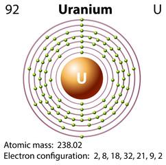 Diagram representation of the element uranium