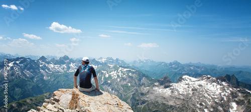 Man Enjoying View of Mountains in Allgau Alps #90815619