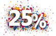 25% sale sign.