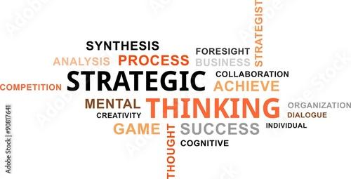 Fotografía  word cloud - strategic thinking