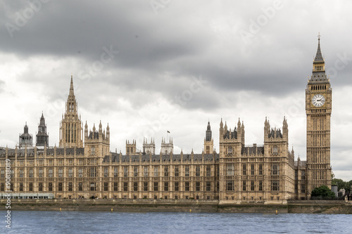 Poster Londres Big Ben and Houses of Parliament with Thames