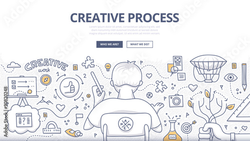 Fotografía  Creative Process Doodle Design