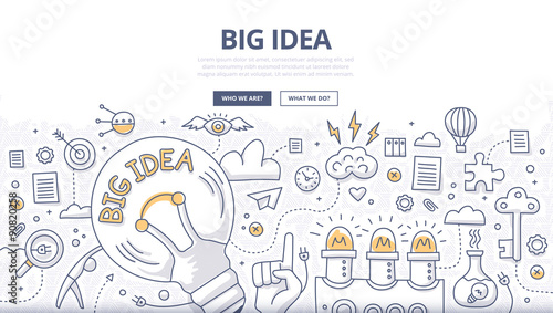 Fotografía  Big Idea Doodle Concept