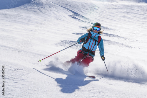 Fotobehang Wintersporten Freeride at it's best