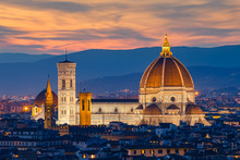 Twilight At Duomo Florence In ...