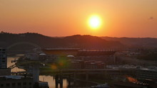 Sunset Over Heinz Field In Pittsburgh