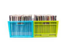 Rare Records In Two Plastic Boxes
