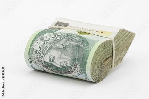 polskie pieniądze, złotówki - fototapety na wymiar