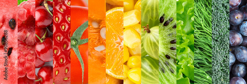 Poster Cuisine Healthy fresh food background