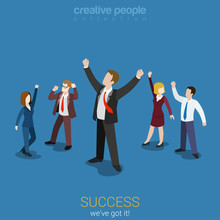 Happy Successful Businesspeople