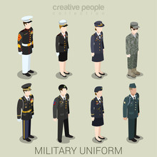 Military Army People In Unifor...