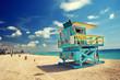 canvas print picture - South Beach, Miami