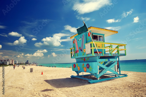 Foto op Canvas Strand South Beach, Miami