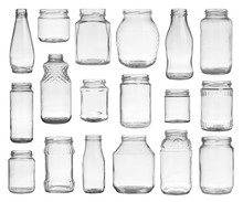 Collection Of Empty Jars Isola...