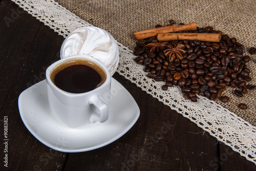 Foto op Canvas Chocolade black coffee