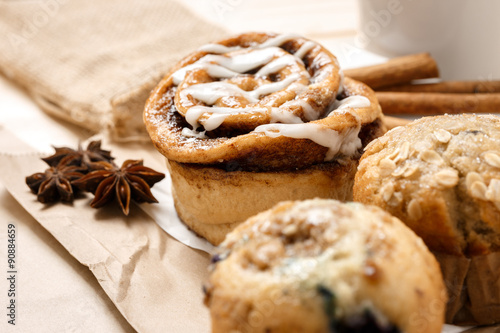 Garden Poster Cookies Testy Muffins and Cinnamon roll