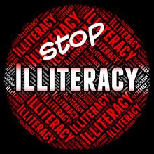 Stop Illiteracy Indicates Warn...