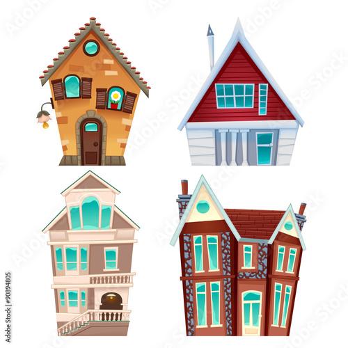 Poster Chambre d enfant Set of houses