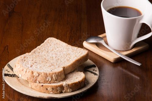 Papiers peints Café en grains Bread coffee